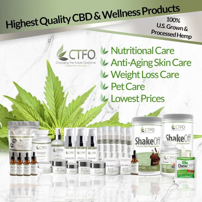 Changing The Future Outcome CBD Oil Product Line. Get a CBD product for whatever issue may have.